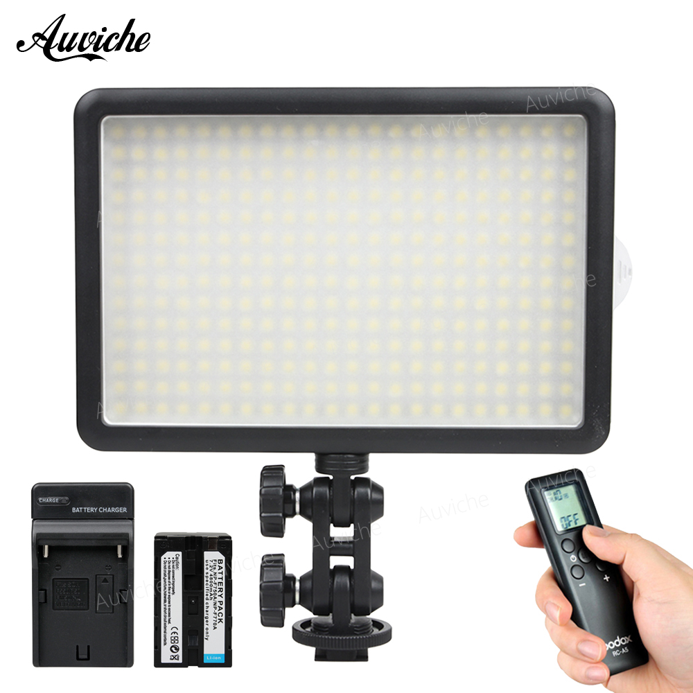 Купить Godox LED308Y 3300K LED Video LED Light with F750 battery for DSLR Camera Camcorder Fill Light for Wedding News Interview в Москве и СПБ с доставкой недорого