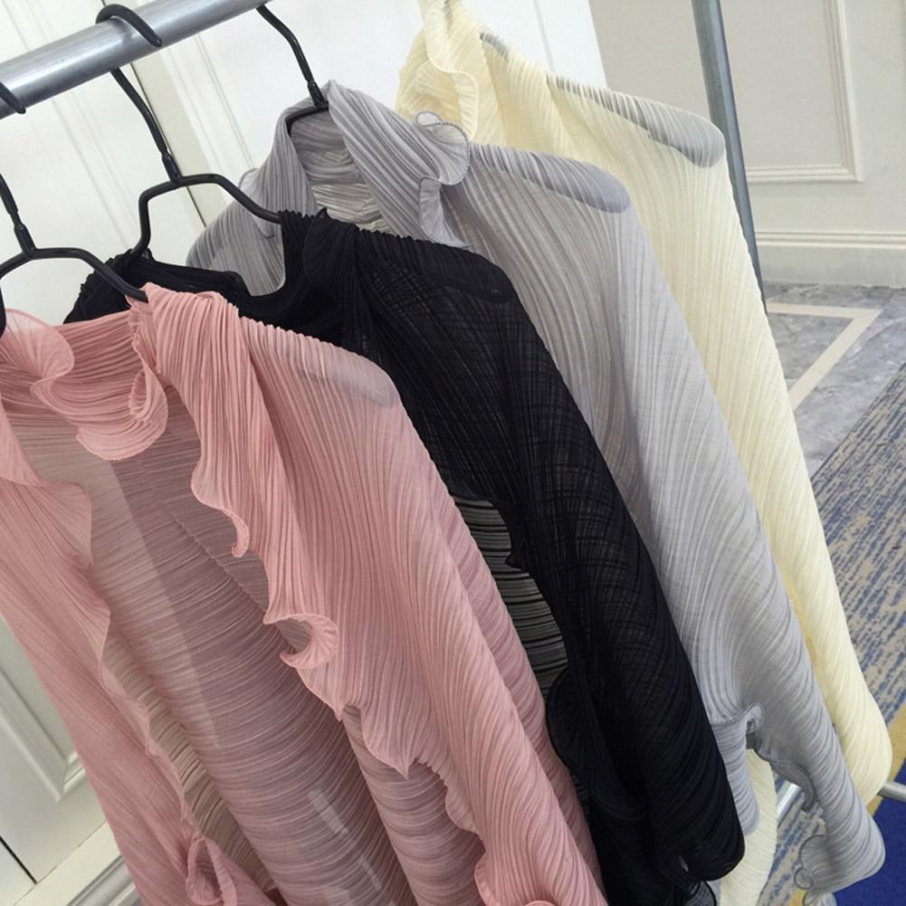 Women's Fashion Pure Color Ruffle Chiffon Sleeve Arms 2019 Summer Elegant Beach Shawl Long Sleeve Scarf UV Sleeve Holder Cuffs