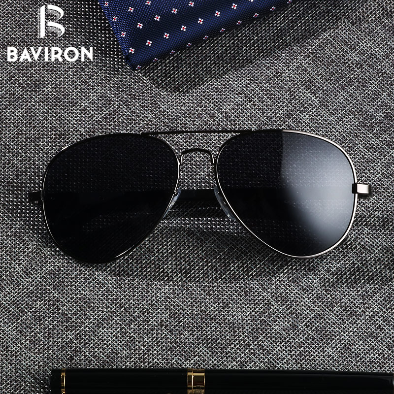 c32c96b2a77 แว่นตากันแดดเลนส์โพลารอยด์ BAVIRON Teardrop Driving sunglasses Men Aluminum Polarized  Sunglasses Classic Aviators Glasses Male Top Eyewear UV400 Gafas 8026
