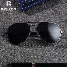 BAVIRON Teardrop Driving sunglasses Men Aluminum Polarized Sunglasses Classic Aviators Glasses Male Top Eyewear UV400 Gafas 8026