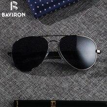 BAVIRON Teardrop Driving sunglasses Men Aluminum Polarized Sunglasses Classic Aviators Glasses Male Top Eyewear UV400 Gafas 8026