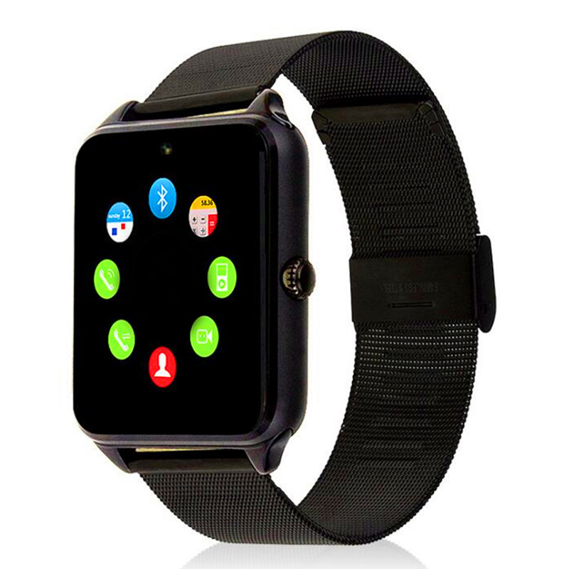 Z60 Smart Watch GT08 Plus Metal Clock With Sim Card Slot Push Message Bluetooth Connectivity Android IOS Phone Smartwatch