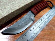 High-carbon steel imitate Damascus Knife Handmade Straight Knife Forged Steel Sharp Hunting Knife Fixed Tactical Knives