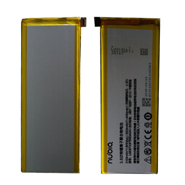 100% Original Backup for ZTE Nubia Z7 MAX 3100mAH Battery For ZTE Nubia Z7 MAX NX505J Smart Mobile Phone +Tracking Number