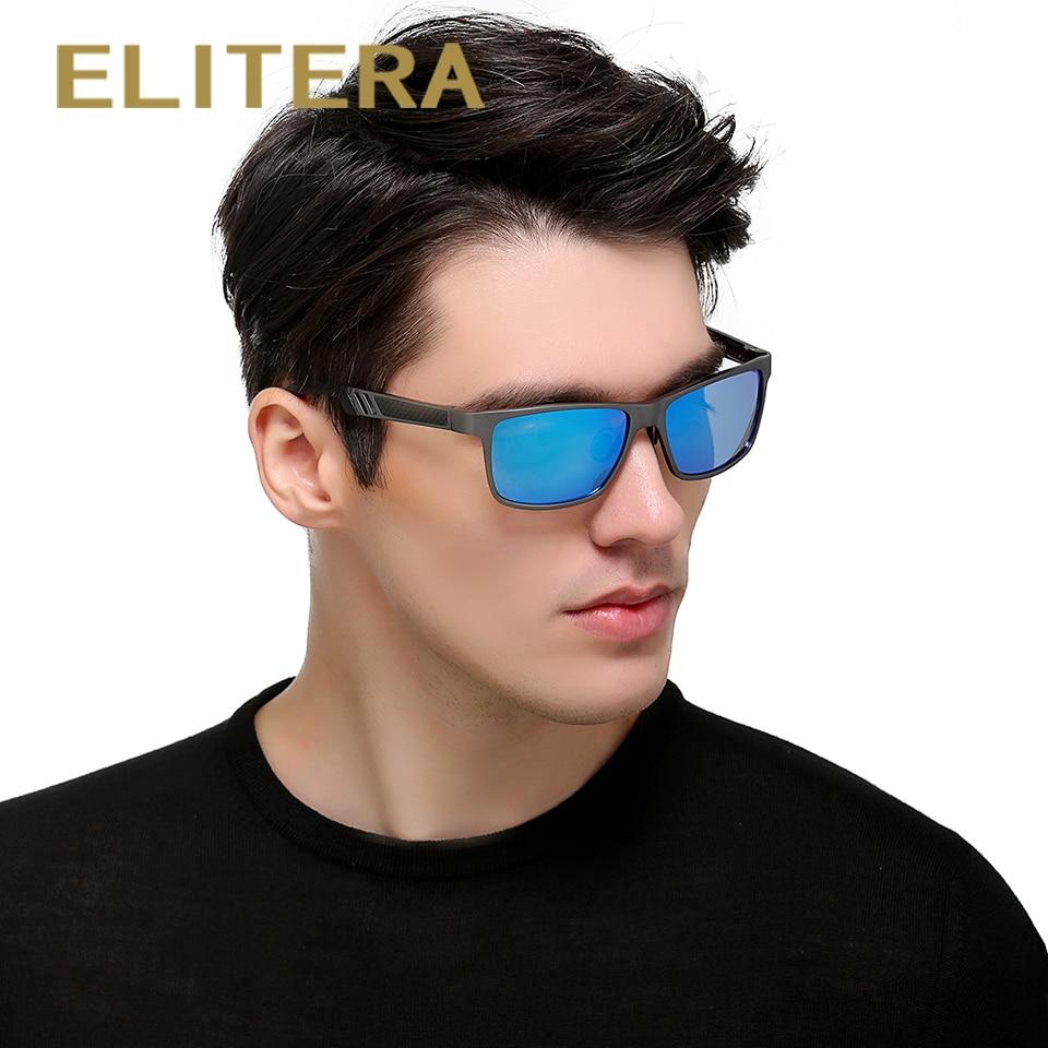 ELITERA Aluminiowe spolaryzowane okulary przeciwsłoneczne męskie - Akcesoria odzieżowe