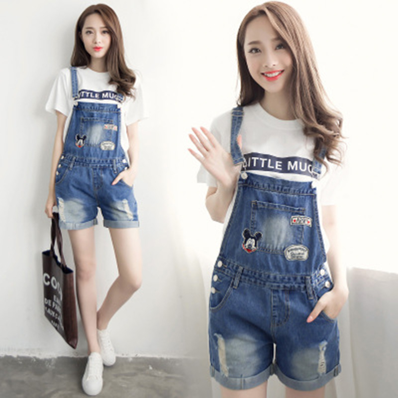 b746b0a57a8 Plus Size Summer Style Ripped Vintage Playsuit Shorts Jumpsuit Denim  Overalls Washed Women Short Jumpsuits Cowboy Loose Female-in Rompers from  Women s ...