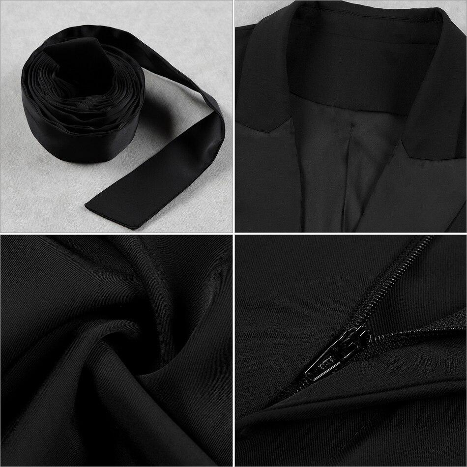 Nouveau Soirée Pièces Deux Célébrité Partie Mode Adyce 2 Black Manteau Ensembles Ensemble D'été Femmes 2019 Et Longues Manches De À Pantalon 5Tq6ZqAw