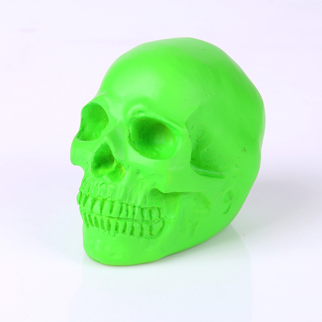 Halloween Items Home Decorations Medicine Teaching Resin Skulls New Hot  Products Green Skull