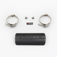 Motorcycle Exhaust Middle Link Pipe Carbon Fiber Protector Heat Shield Cover Guar For GY6 Scooter R6