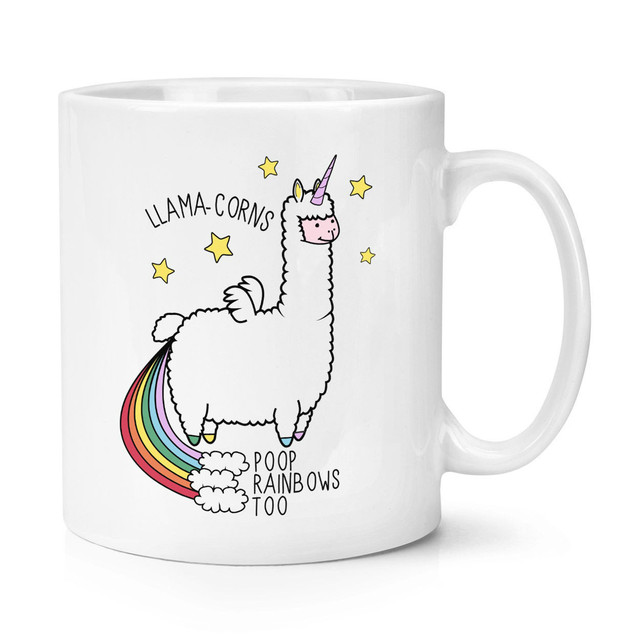 11oz Llama-corns Poop Rainbows Too Unicorn Magical Animal Coffee Mug Tea Cup