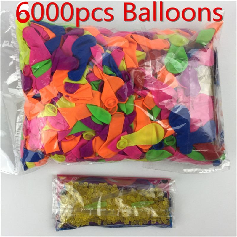 6000 pcs Water Balloons Summer Outdoor Toy Fast Filling Magic Water Balloons Water Balloons Bombs Novelty Party Toys 3 beam of balloons colorful magic water balloons outdoor recreation and water play toys