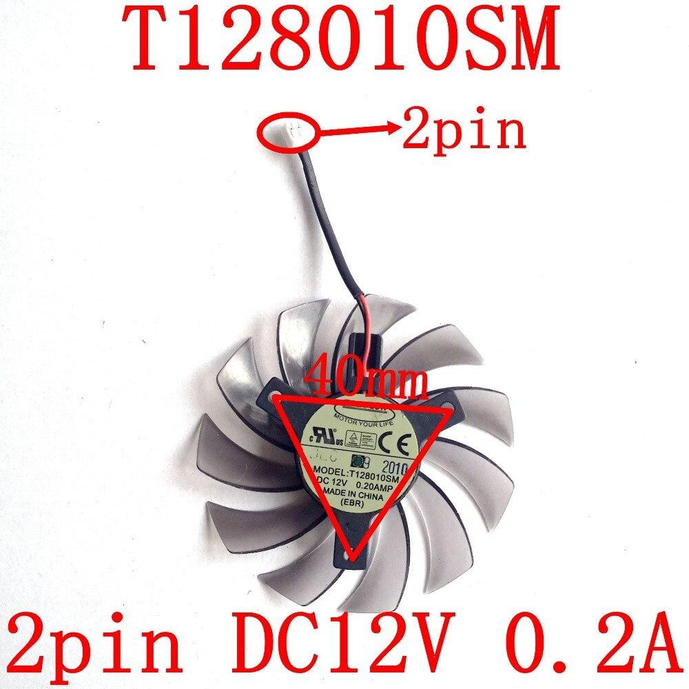 Livraison Gratuite EVERFLOW T128010SM 2pin 75mm 12 v 0.2A pour Gigabyte N470SO N580UD N580SO GTX460 GTX470 GTX580 HD5870 ventilateur de refroidissement