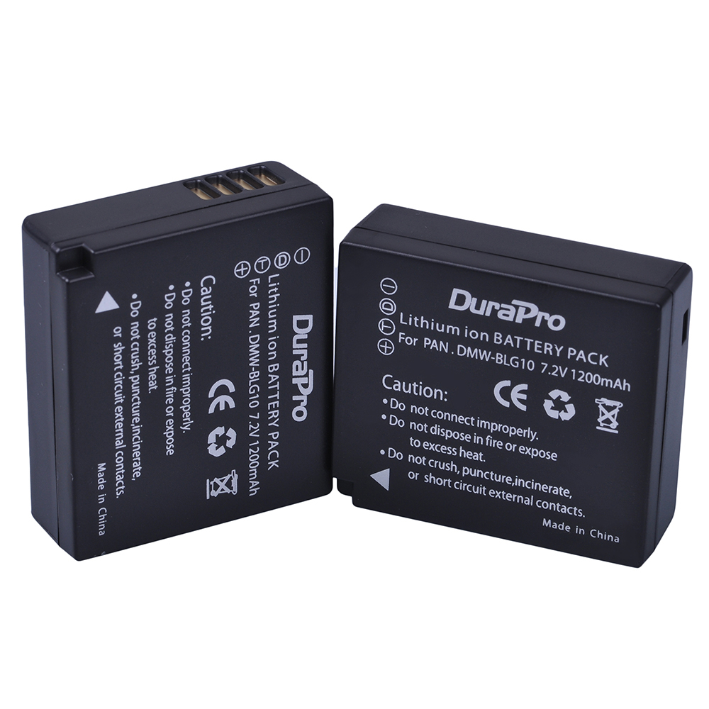 2 x DuraPro DMW-BLG10 DMW BLG10 BLG10 Camera Battery for Panasonic LUMIX GF5 GF6 GX7 LX100 GX80 GX85 D-Lux (Type 109) Bateria tectra 4pcs dmw blg10 dmw ble9 bp dc15 bateria usb dual charger with ac adaptor for panasonic lumix gf5 gf6 gx7 lx100 gx80