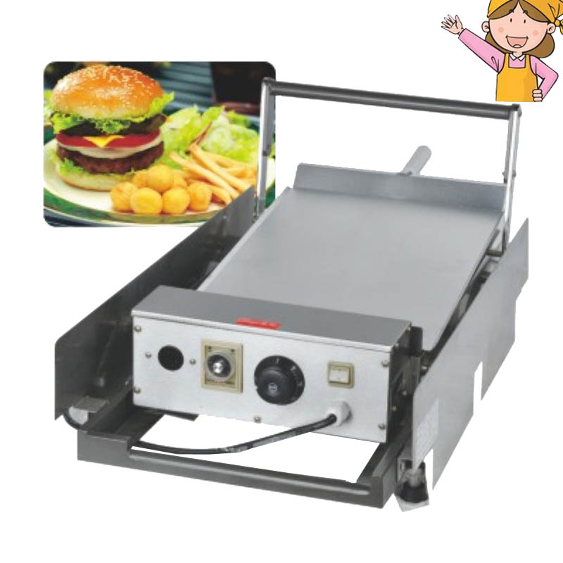 Double Layer Electric Hamburger Machine Burger Maker: 1pc Hamburger Baking Machine Bread Toaster Double Layer