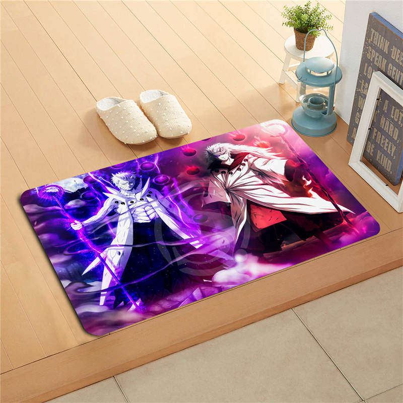 W530L36 Custom Naruto Art Watercolor Painting Doormat Home Decor Door mat Floor Mat Bath Mats foot pad #F32