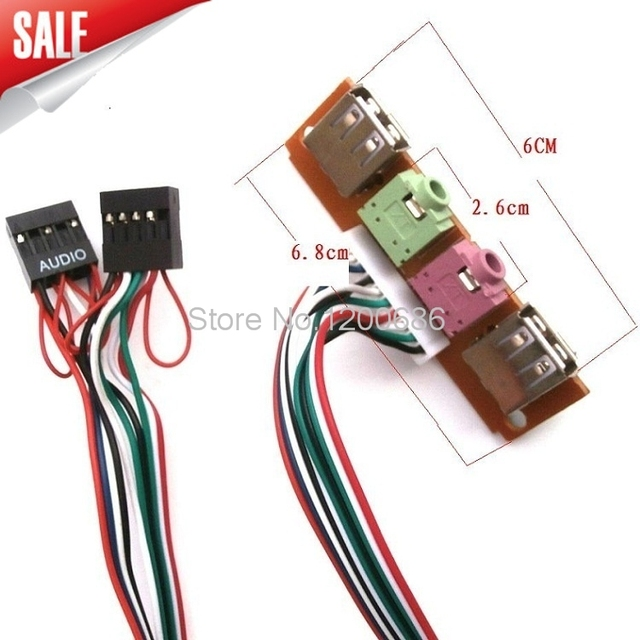 main chassis front panel usb 2 0 + 3 5mm audio baffle line expansion card  6 8cm