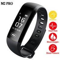 M2 Pro Смарт-фитнес часы-браслет 50 слово информационный дисплей измерять кровяное давление пульсометр крови кислородом