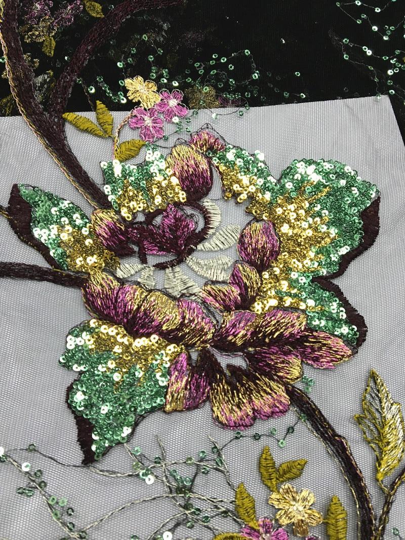Tela de encaje de tul francés negro lentejuelas bordadas tela de encaje de Red Africana venta al por mayor 2017 alta calidad para Nigeria boda JLN34-in encaje from Hogar y Mascotas    3