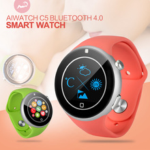 AiWatch C5 Bluetooth 4.0 Smart Watch Support SIM Pedometer Heart Rate Monitor UV Detection Smartwatch Wristwatch for Android IOS