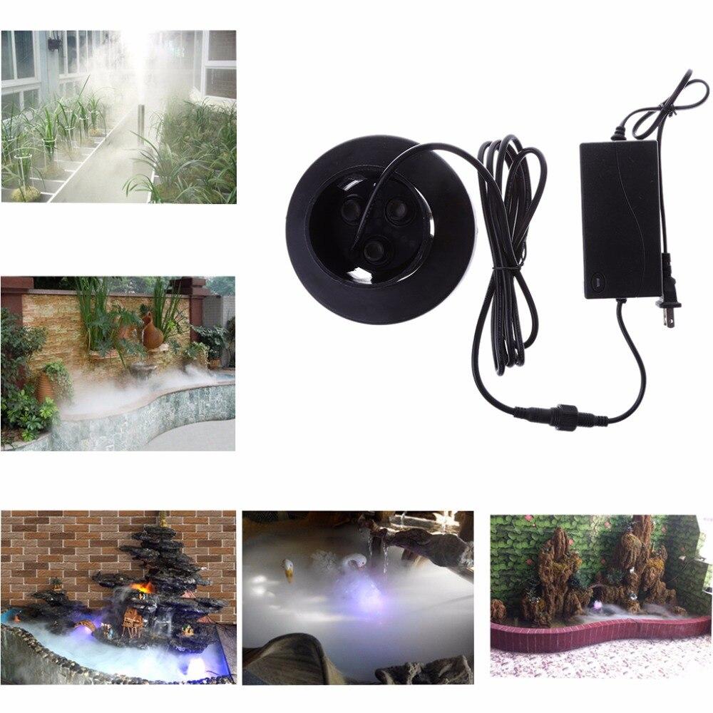 Free_on 3 Head Mist Maker Atomizer Ultrasonic Air Humidifier Fogger Nebulizer US Plug