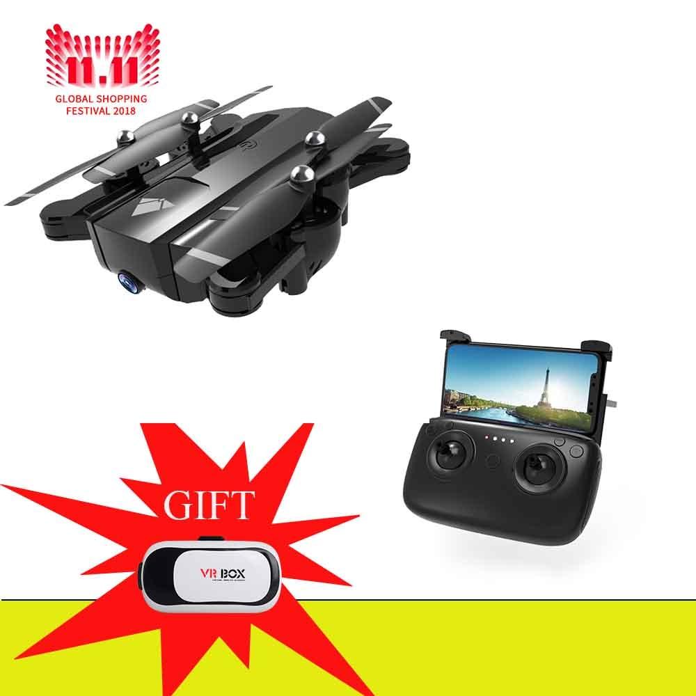 все цены на Dual Camera 720P RC drone 2mp HD Camera Quadcopter Foldable Gesture Control Drone, long flight time VS SG700 KY601S Drone онлайн