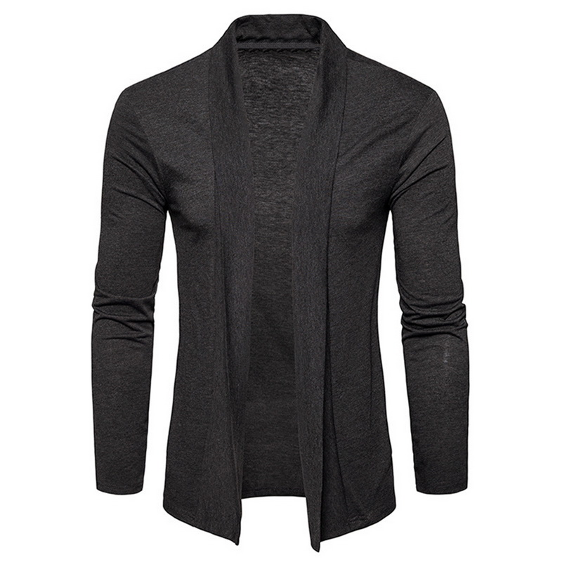 Adisputent Sweater Men Jackets Shawl Pull-Cardigan Thin-Coats Long-Sleeve Male Men's title=