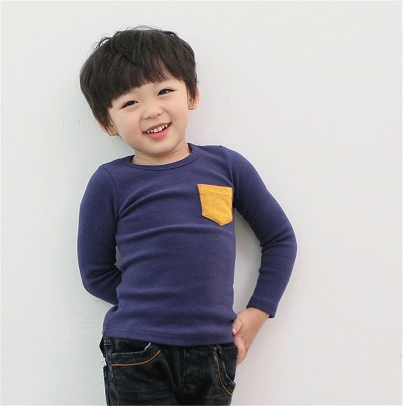 Autumn Toddler Baby T-shirt For Kids Girls Long Sleeve Tee Tops Soft Solid Kids Boys Tees Candy Color Baby Girls Cotton T-Shirts 9