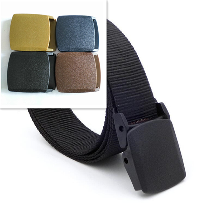 1PCS High quality 38mm Plastic Belt Buckle Men's Canvas Cosplay Military  Adjustable Tied Webbing