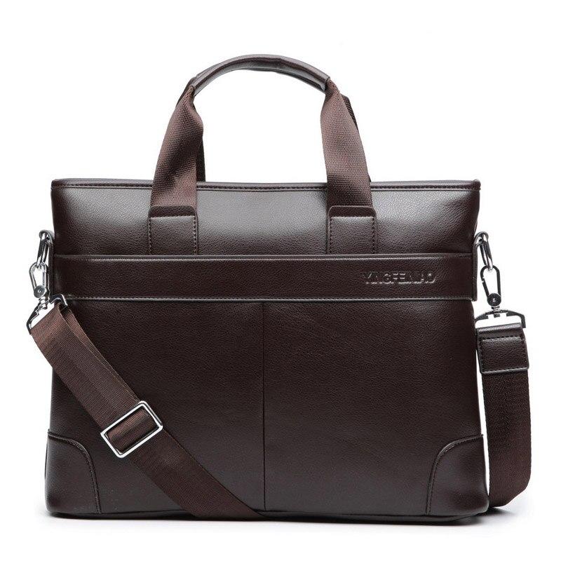 2018 Neue Männer Casual Aktentasche Business Handtasche Schultertasche Leder Messenger Bags Computer Laptop Handtasche Tasche Männer Reisetaschen ZuverläSsige Leistung
