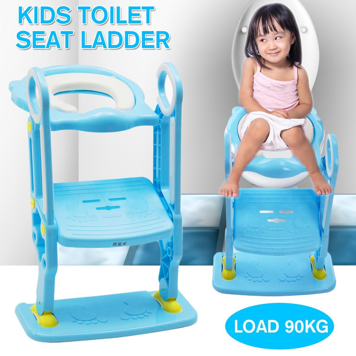 Folding Potty Infant Kids Toilet Training Seat Load 90KG with Adjustable Ladder Portable Urinal Potty Training Seats Seat Ladder