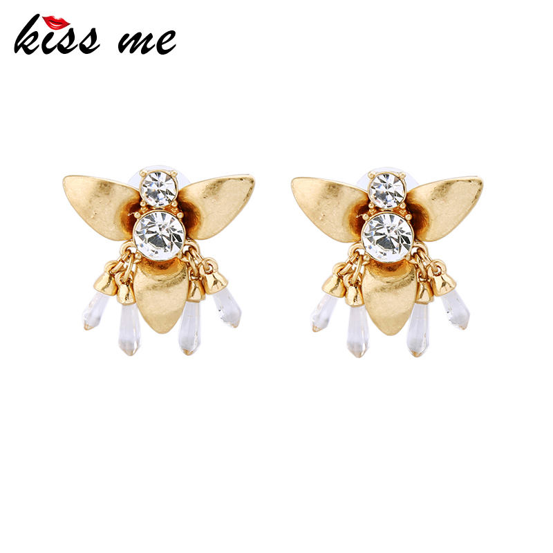 KISS ME Insect Jewelry New Alloy Crystal Bee Women