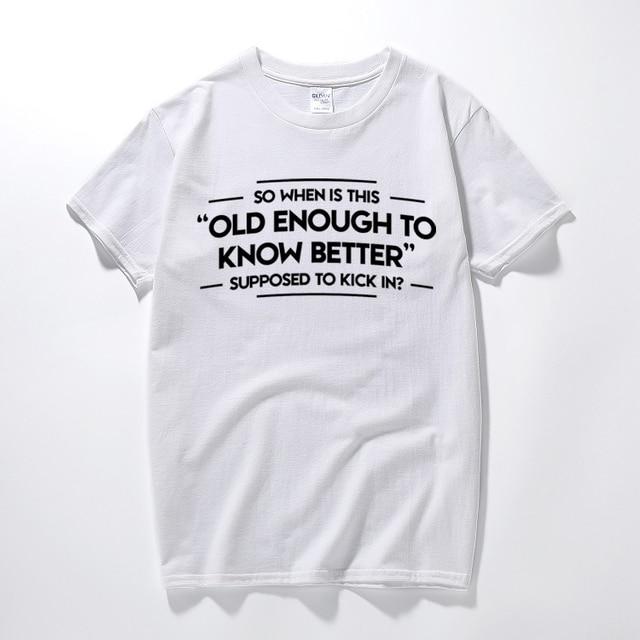 Shirt Savoir Hommes Assez Vieux Pour Slogan Drôle Imprimé T Mieux N0nwm8 jUzpGSMqVL