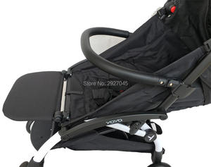 Image 3 - Yoya Stroller Armrest and 21cm Extend Footboard Leather Bumper and Hook For Babyzen Yoyo YuYu Vovo Stroller Accessories Handrest