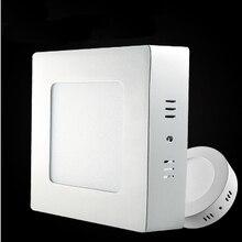 Светодиодный Панель свет 6Вт 12Вт 18Вт, поверхностного монтажа светодиодный Потолочные светильники AC85-265V круглый квадратный светодиодный потолочный светильник 30 60 90 шт. 2835SMD
