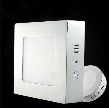 LED Panel Light 6W 12W 18W Surface Mounted LED Ceiling Lights AC85-265V Round Square LED Downlight 30 60 90pcs 2835SMD