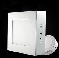 Led painel de luz 6 w 12 w 18 w superfície montado led luzes de teto ac85-265v rodada praça led downlight 30 60 90 pcs 2835smd