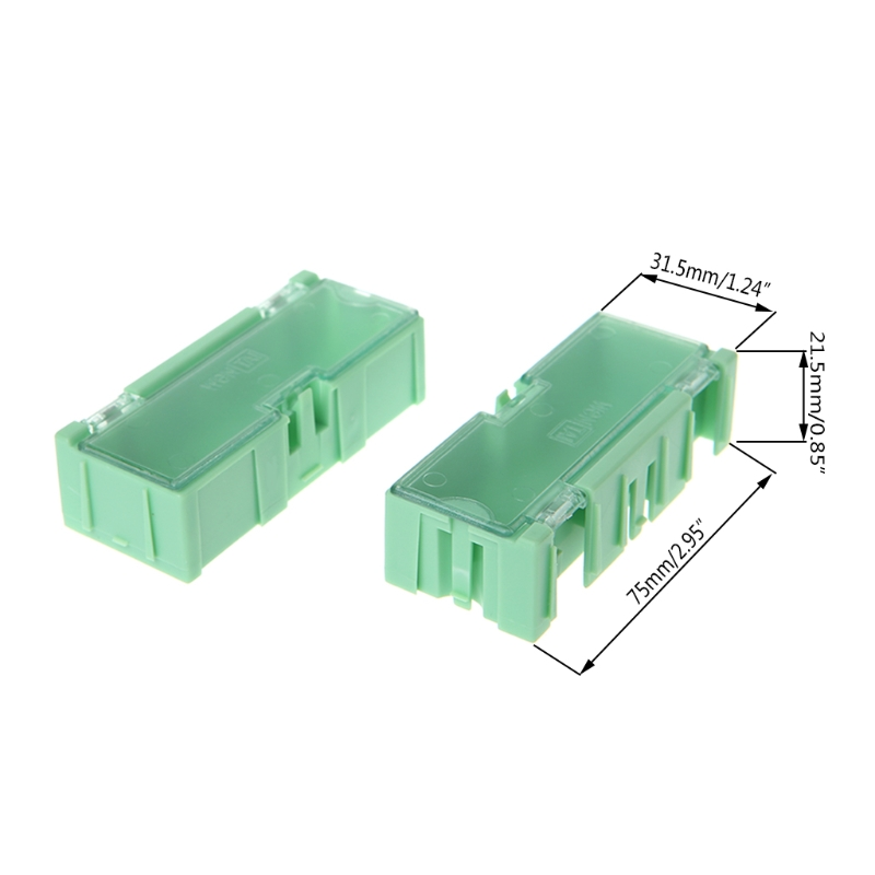 Mini SMD SMT Electronic Box IC Electronic Components Storage Case 75x31.5x21.5mm 649E