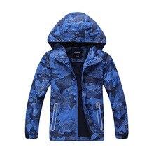 À prova dwaterproof água criança casaco à prova de vento desportivo bebê meninas meninos jaquetas quente crianças outerwear roupas crianças para 5 14 anos de idade