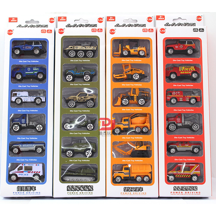 6pcs/set Toy Car engineering Truck Models Children car Toy Diecasts & Toy Vehicles Car Kids Toys Vehicle For Children Juguetes