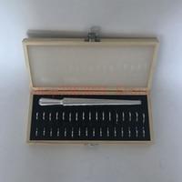 U S HK KOREA Ring Mandrel Sizer Finger Sizing Measuring Stick Metal Set With Wooden Box
