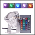 16 Colors 10W 12V RGB LED Underwater Fountain Light 1000LM Swimming Pool Pond Fish Tank Aquarium LED Light Lamp IP68 Waterproof