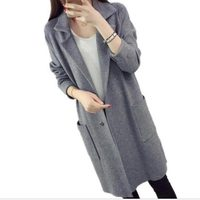 2018 Winter Long Sweater Coat for Women Turn Down Formal Long Cardigans Christmas Sweaters Oversized Coat Knitted camisola