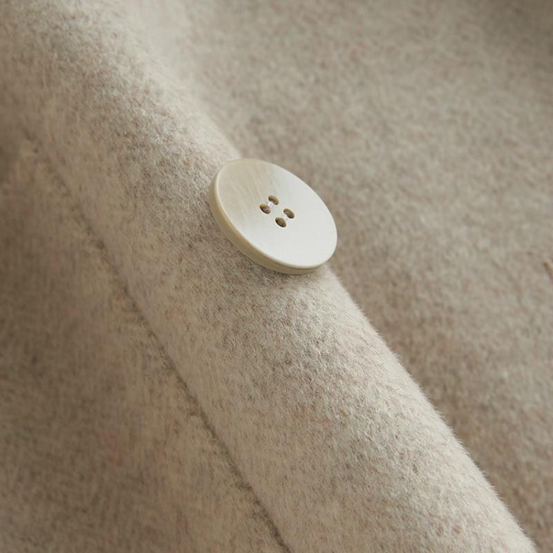 Lwl1306 Coréenne Femmes Beige Naturel Vêtements Automne light Tcyeek camel Femme Mode Manteau White Camel Veste Printemps D'hiver Laine Manteaux Double Long black Boutonnage dqg0FFwax