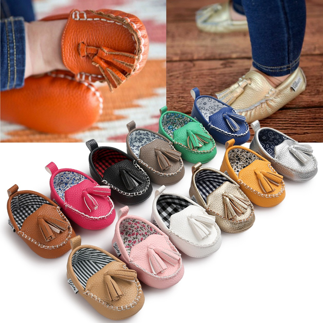 New Spring Bebe PU Leather Moccasins Soft Moccs Shoes Baby Boy Toddler Shoes Baby Casual ...