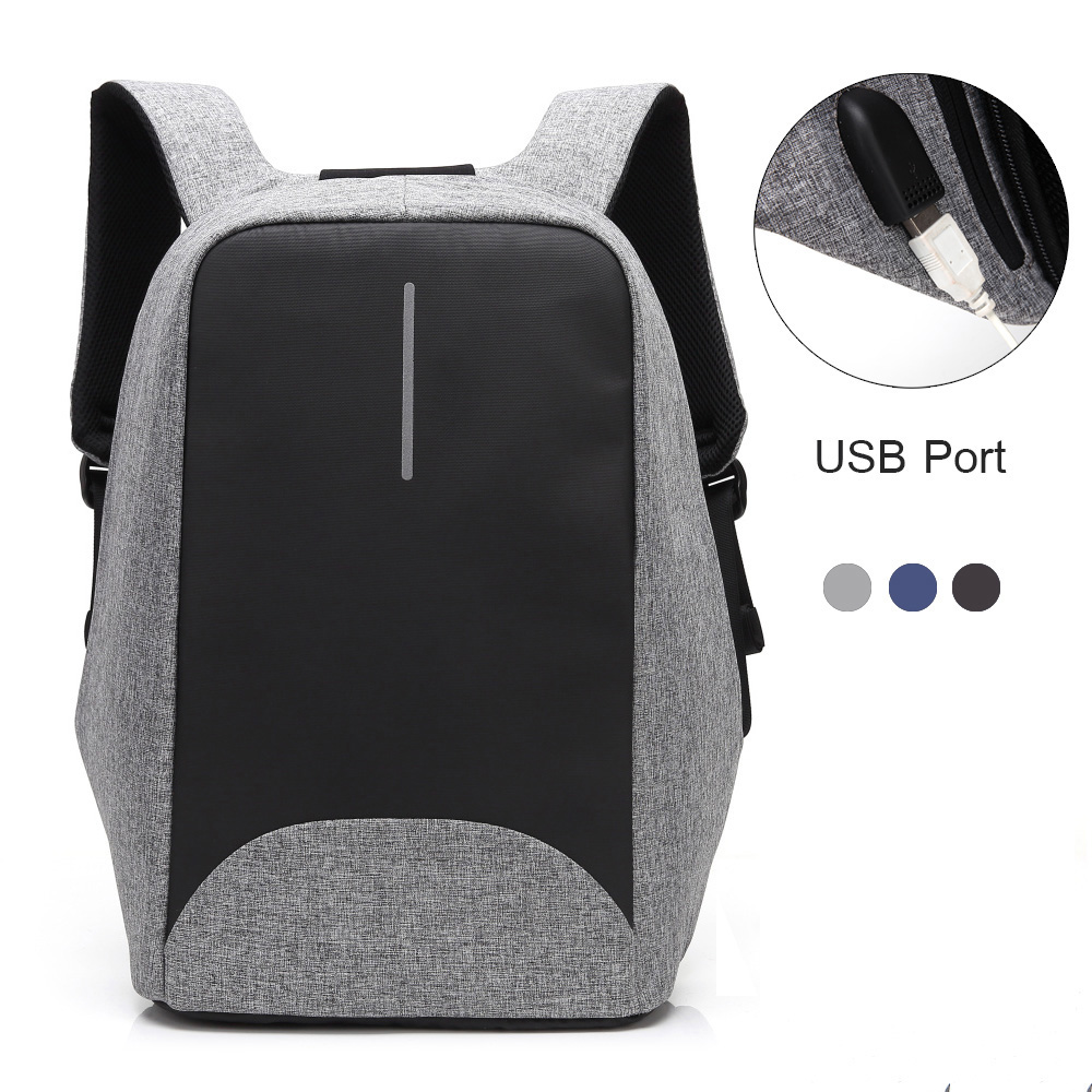 M042 Brand 15.6 inch Antitheft Laptop Notebook Backpack Waterproof Anti-theft Backpacks Bag for Men Women with External USB Port