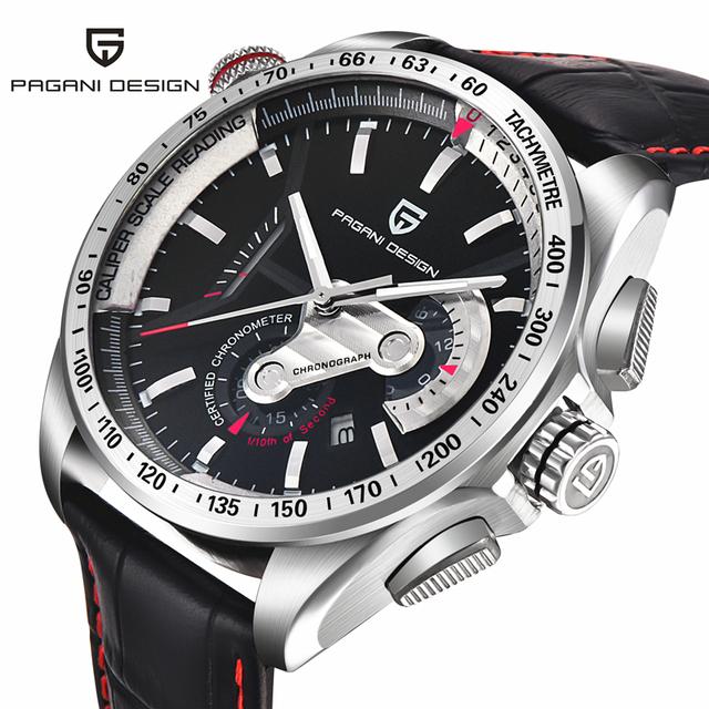 Relogio masculino de Luxo Da Marca Homens Relógio Do Esporte de Mergulho 30 m Militar Relógios Multifunções relógio de Pulso de Quartzo Pagani Projeto 2492A