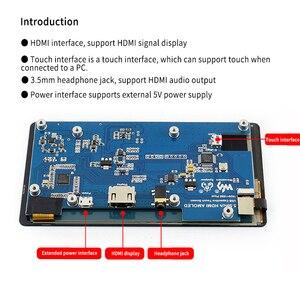 Image 5 - פטל Pi 4 LCD AMOLED 5.5 אינץ 1080P 5 אינץ HDMI קיבולי 1920*1080 מסך מגע מודול עבור פטל Pi 3B + 2B +