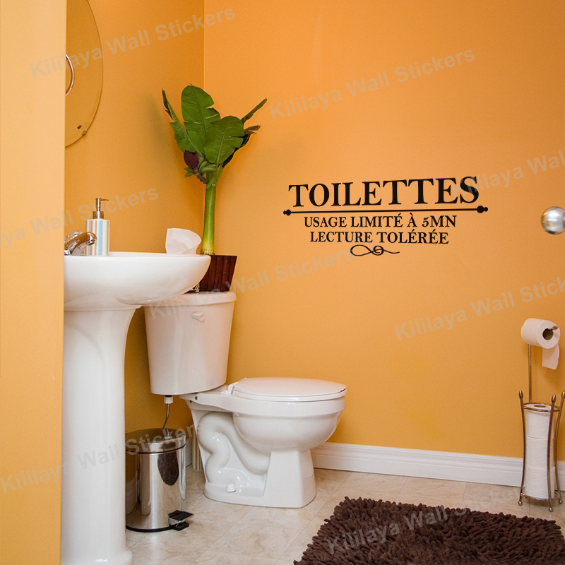 Wallpaper Bird Picture More Detailed Picture About French Humor - Toilet wall stickers