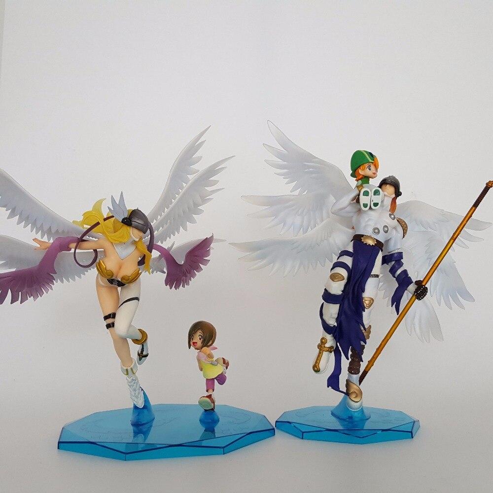 Digimon Action Figurer Angemon Angewomon Leksaker Japanska Anime Aigures Pvc 230mm Digimon Äventyr Collectible Model Leksaker