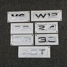 цена на Trunk Logo Metal Logo For Audi A1 A3 A4 A5 A6 A7 A8 Q3 Q5 Q7 2.0T 2.4 2.8 3.0T 3.2 3.6 4.2 V6 V8 W12 Car Styling